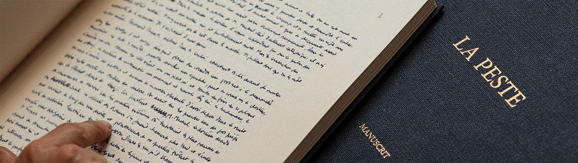 La Peste, le manuscrit d'Albert Camus