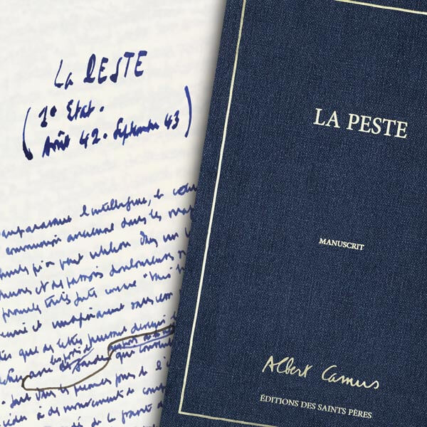 La Peste, le manuscrit d'Albert Camus