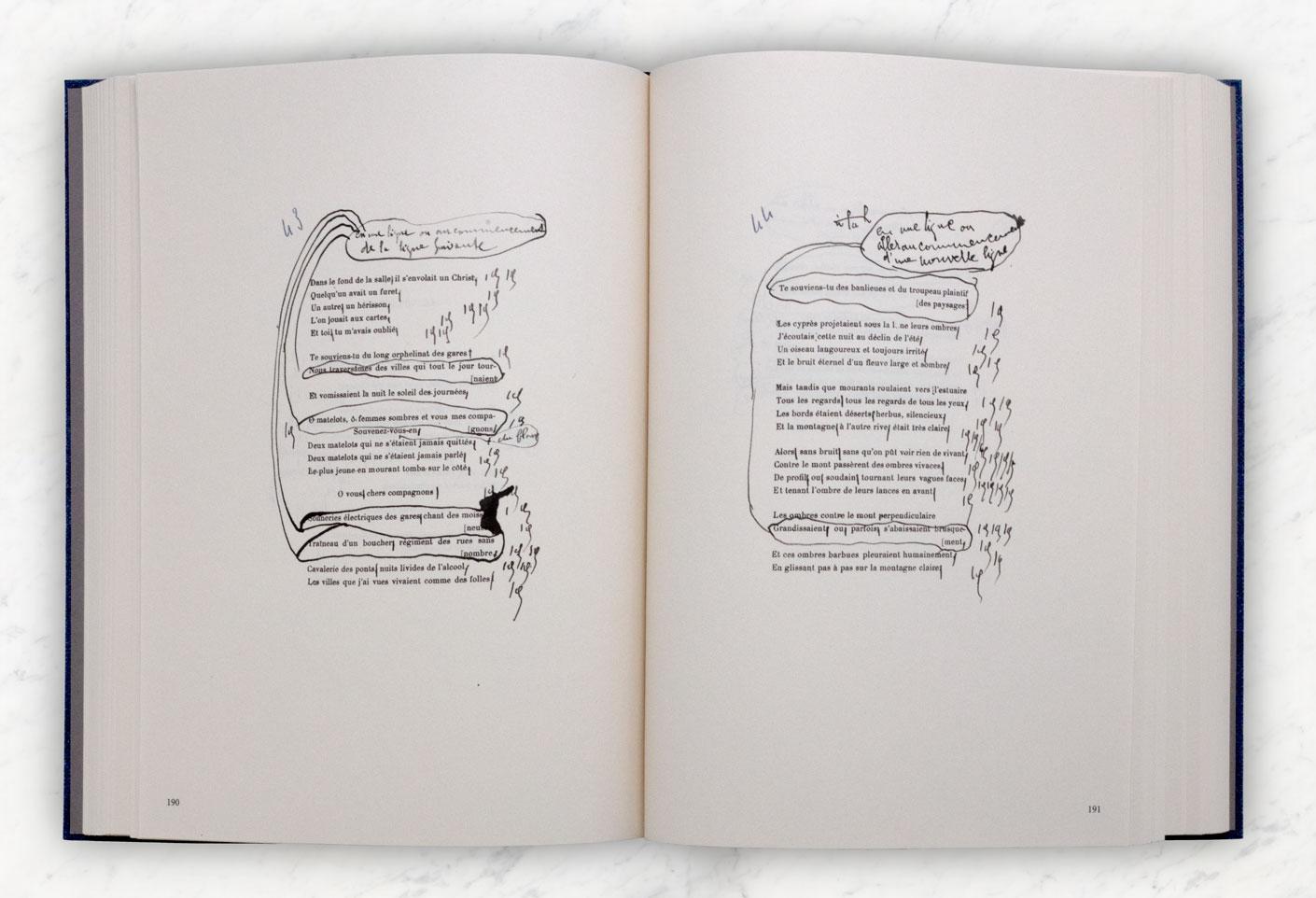 Livre facsimile Alcools de Guillaume Apollinaire