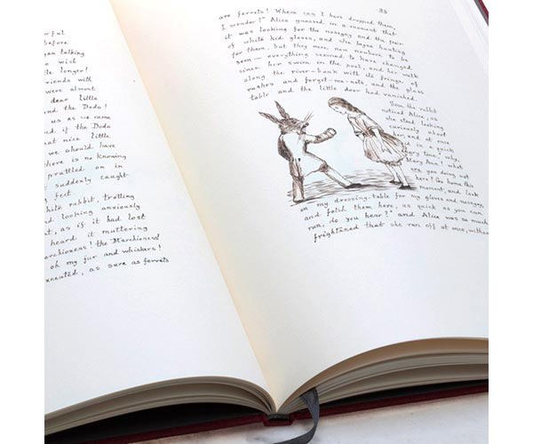 Alice opened manuscript