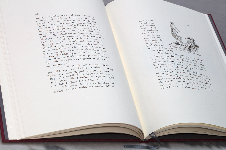 Alice's Adventures Under Ground open book