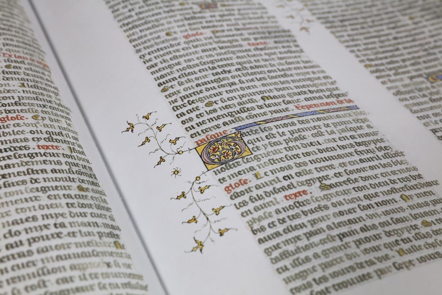 Die Bibel Manuskript