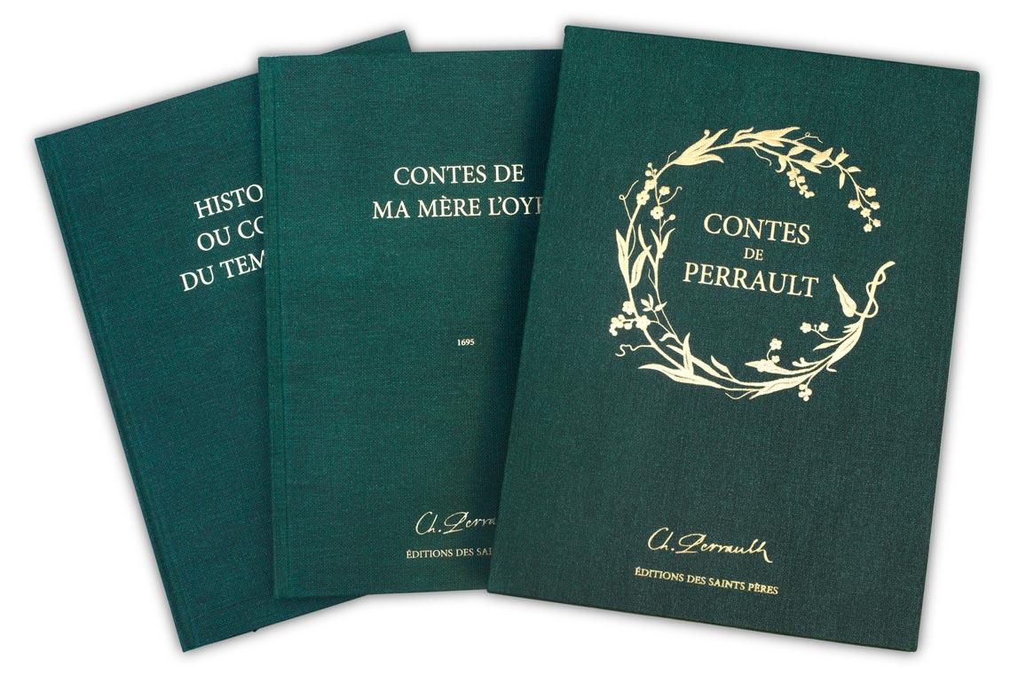 Le coffret du manuscrit des Contes Perrault