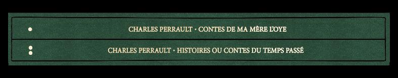 La tranche du livre du manuscrit des Contes Perrault