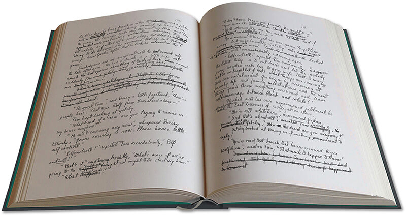 The Manuscript Of The Great Gatsby By F Scott Fitzgerald