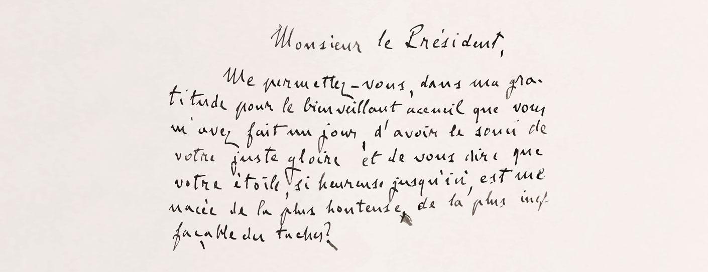 extrait du manuscrit de J'accuse