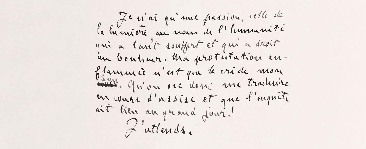 autre extrait du manuscrit d'Emile Zola