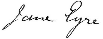 Jane Eyre - titre manuscrit