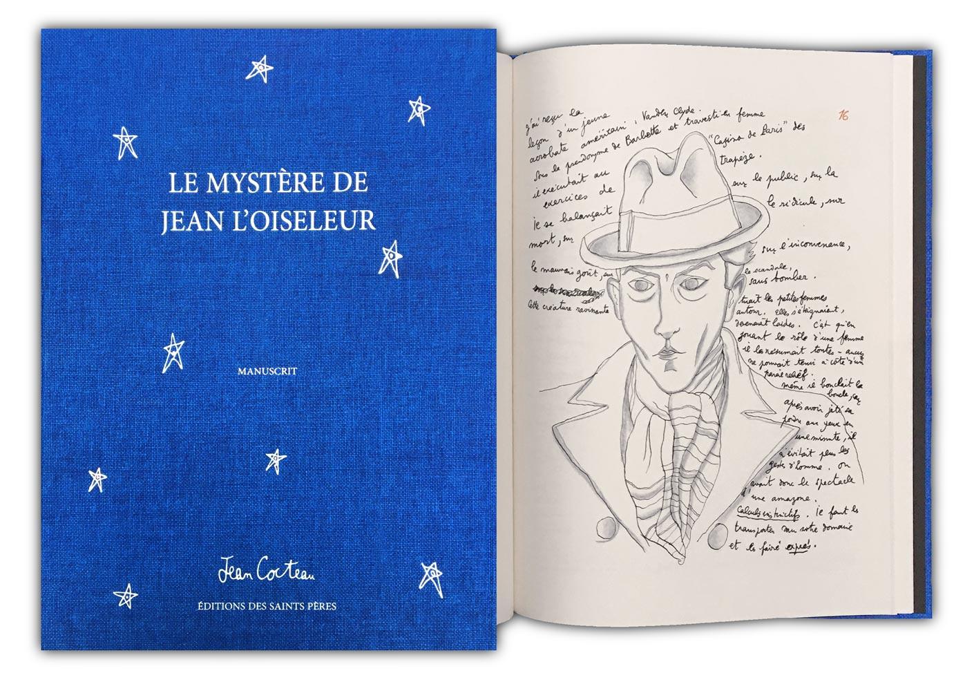 le coffret du manuscrit du Mystère de Jean L'oiseleur de Jean Cocteau