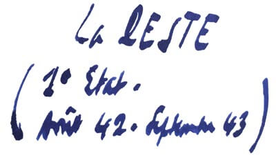 La Peste - titre Manuscrit d'Albert Camus