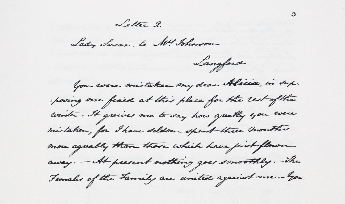 Jane Austen's Handwritting