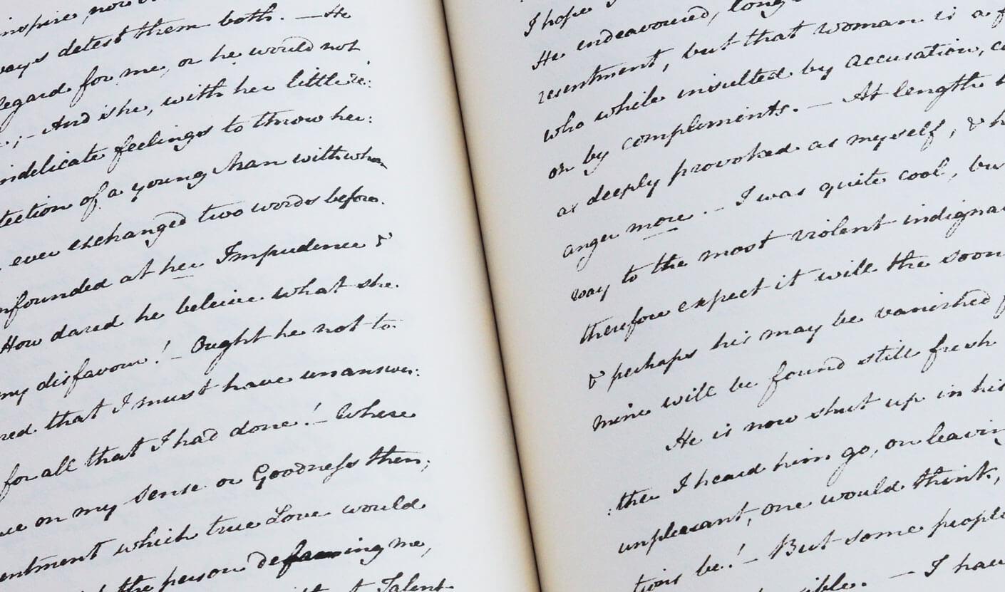 Lady Susan facsimilé du manuscrit