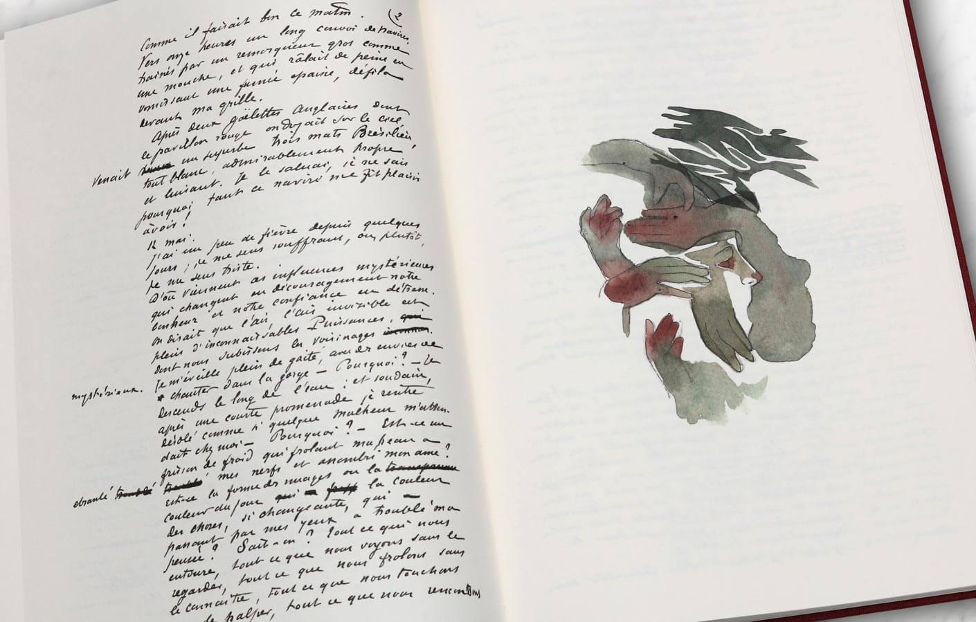 beau livre illustré le horla
