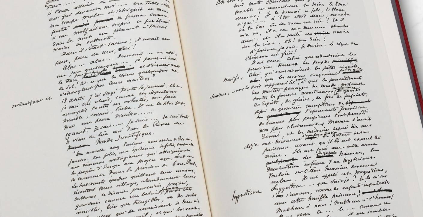 Das Manuskript von Der Horla - Handschrift von Maupassant