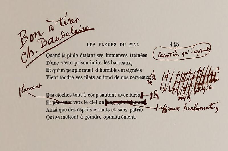 Bon a tirer Charles Baudelaire