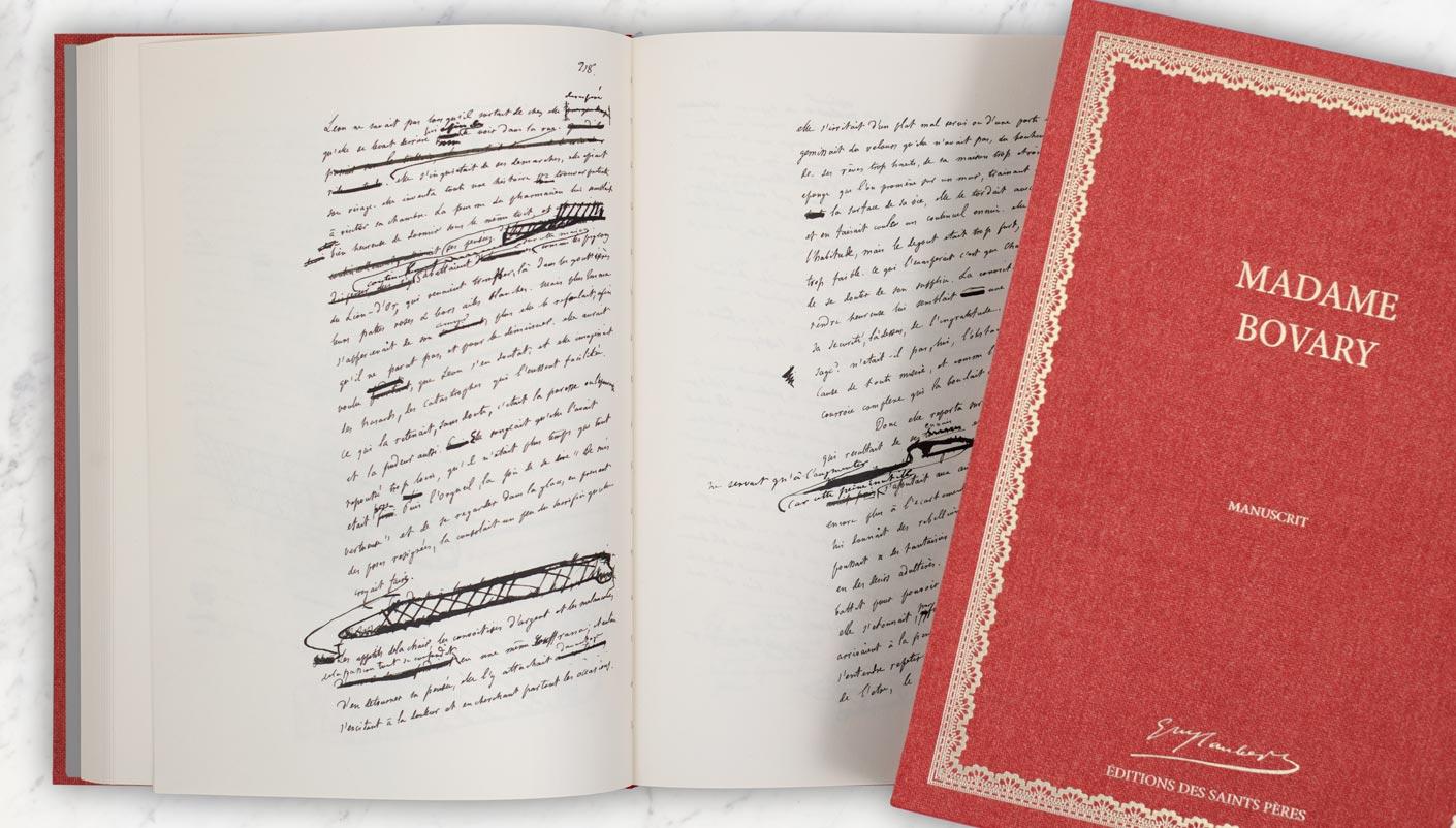 édition manuscrite de Madame Bovary de Flaubert