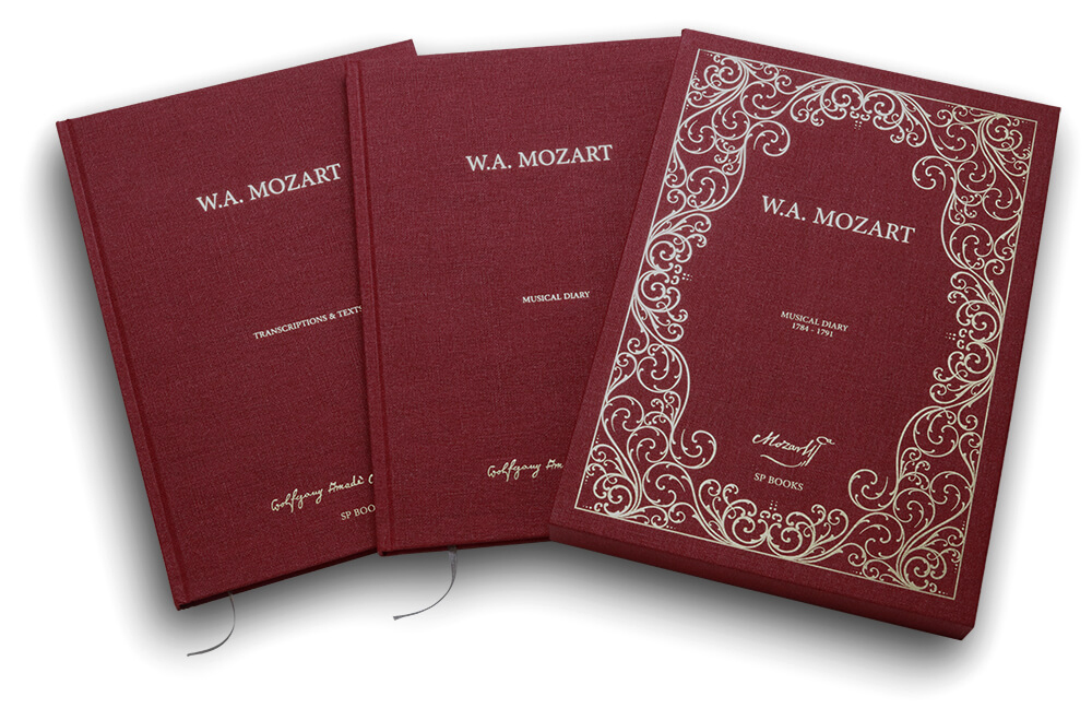 Deux volumes du manuscrit de Mozart