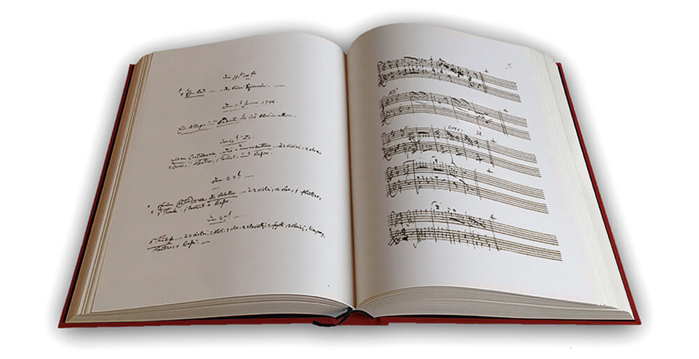 Edition du manuscrit de Mozart