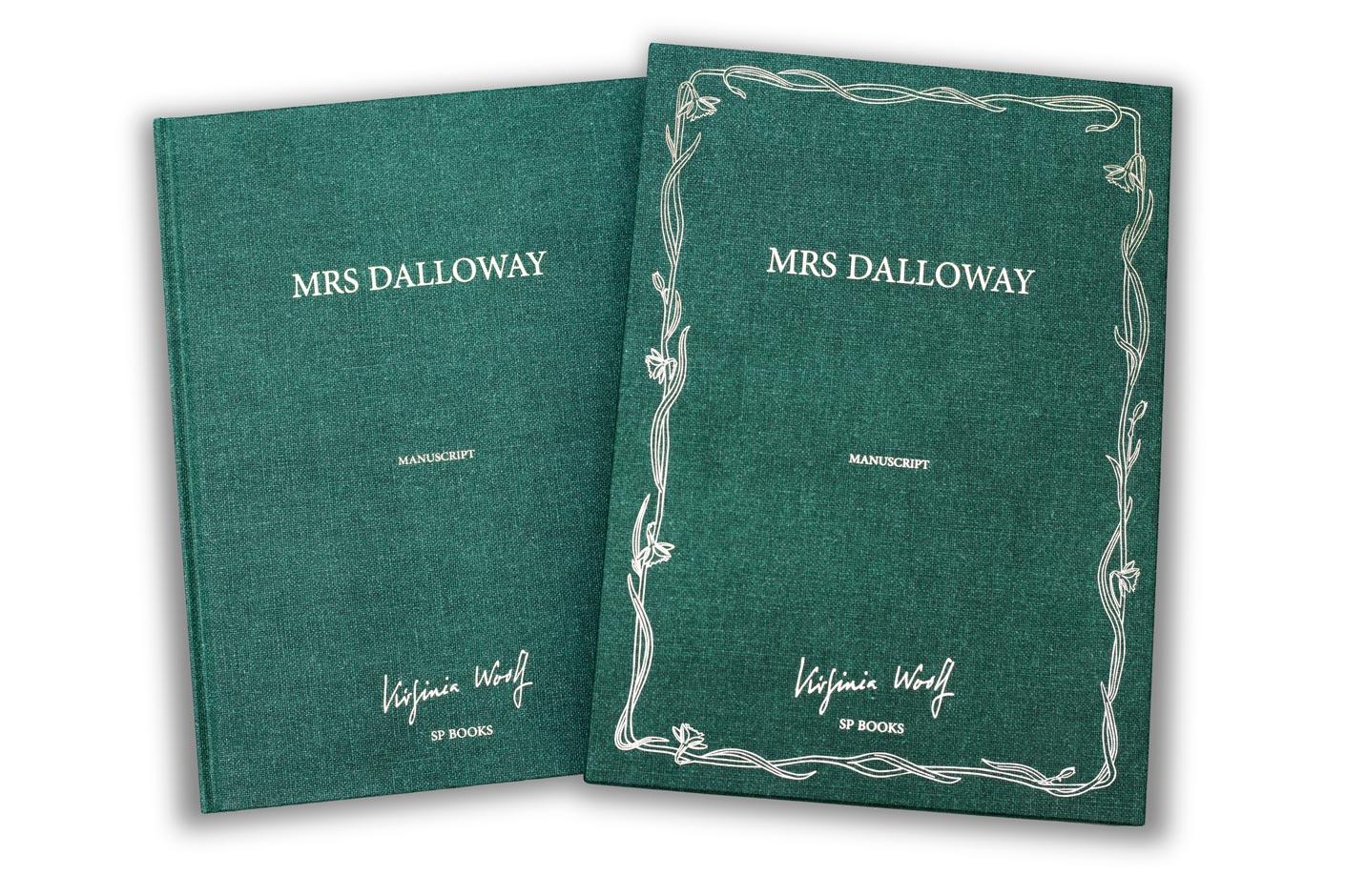 Mrs Dalloway - le livre manuscrit et l'étui