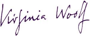 Virginia Woolf signature