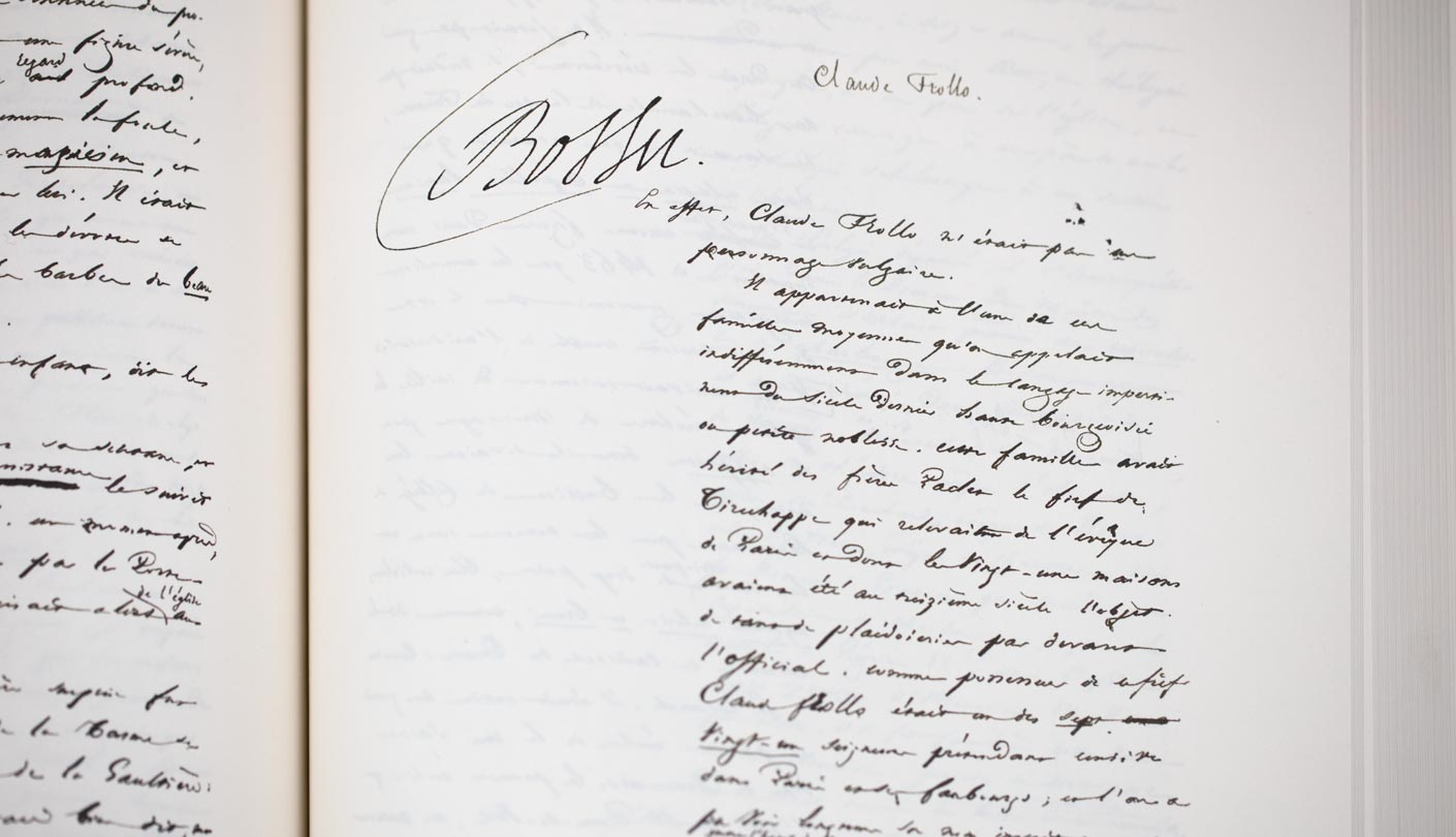 Manuscrit Bossu Claude Trollo