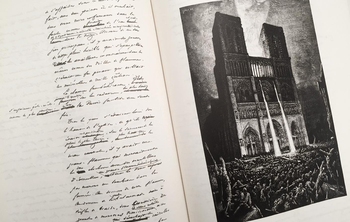 The Manuscript Of Notre Dame De Paris By Victor Hugo