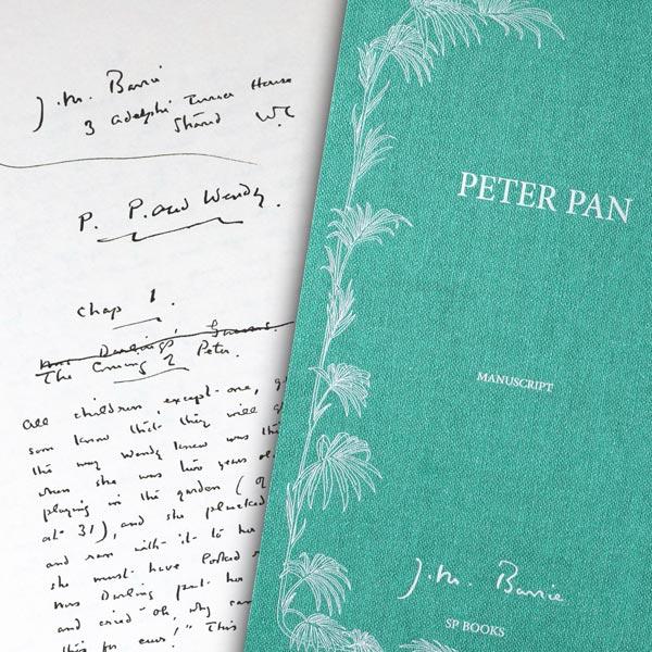 The manuscript of Peter Pan