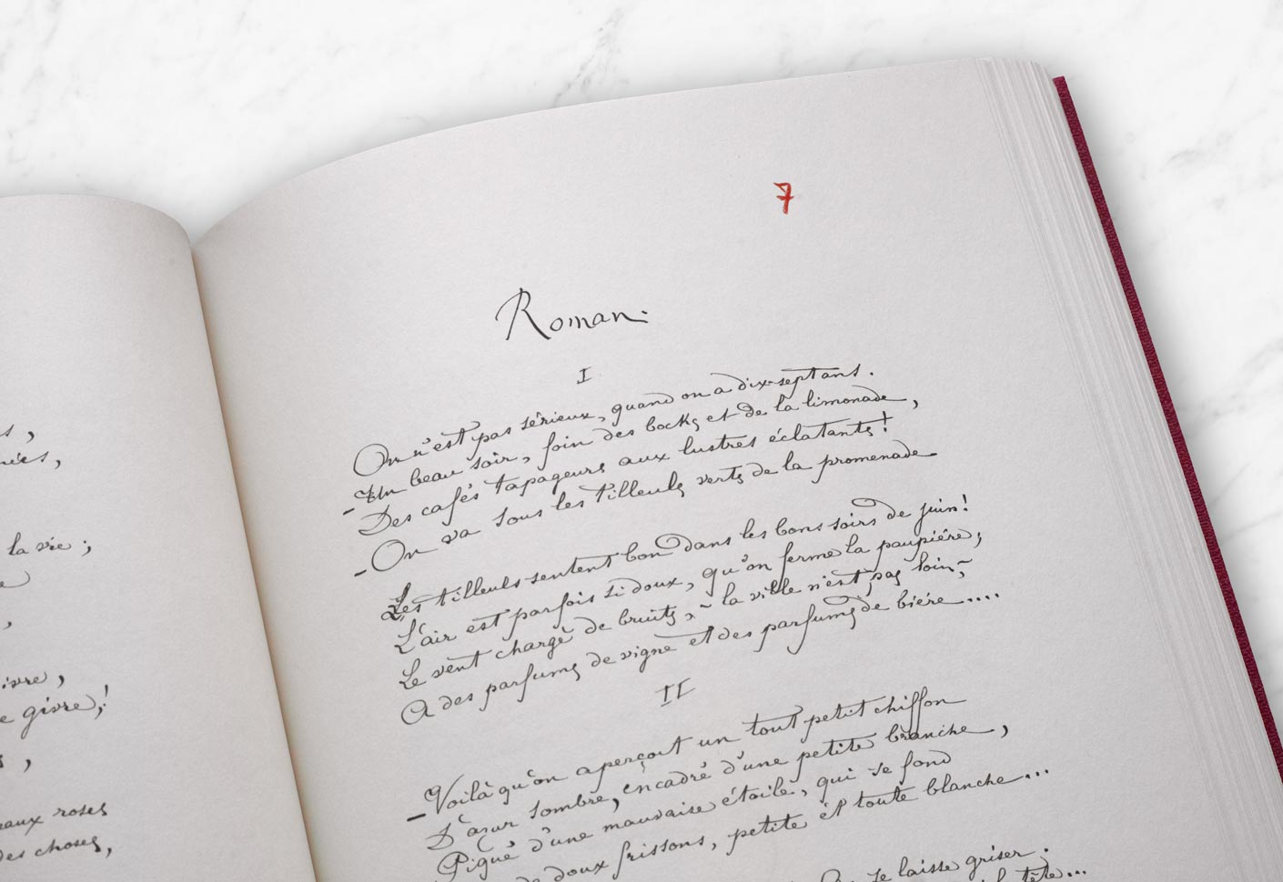 Manuscrit Roman Rimbaud