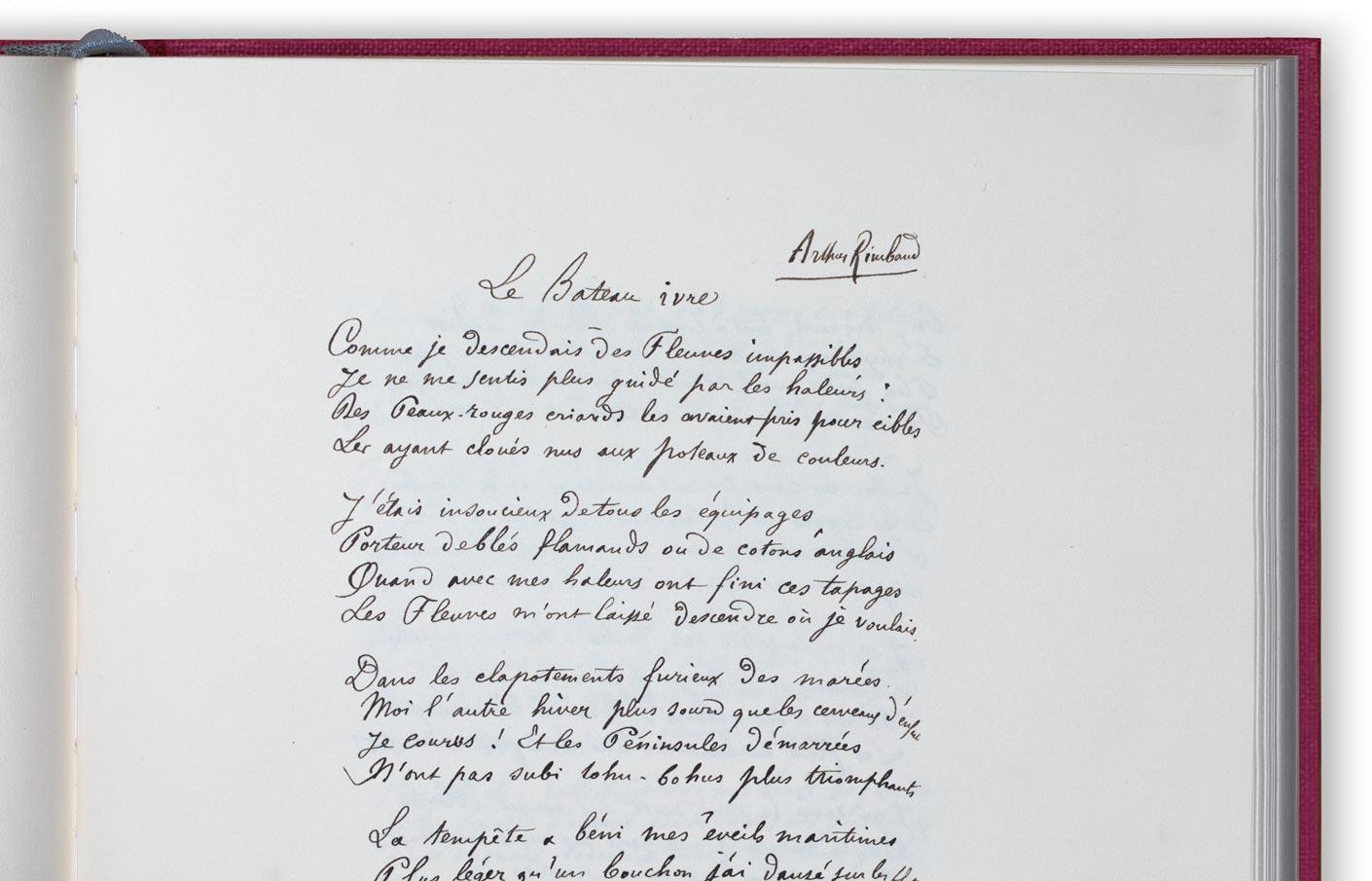le bateau ivre manuscrit
