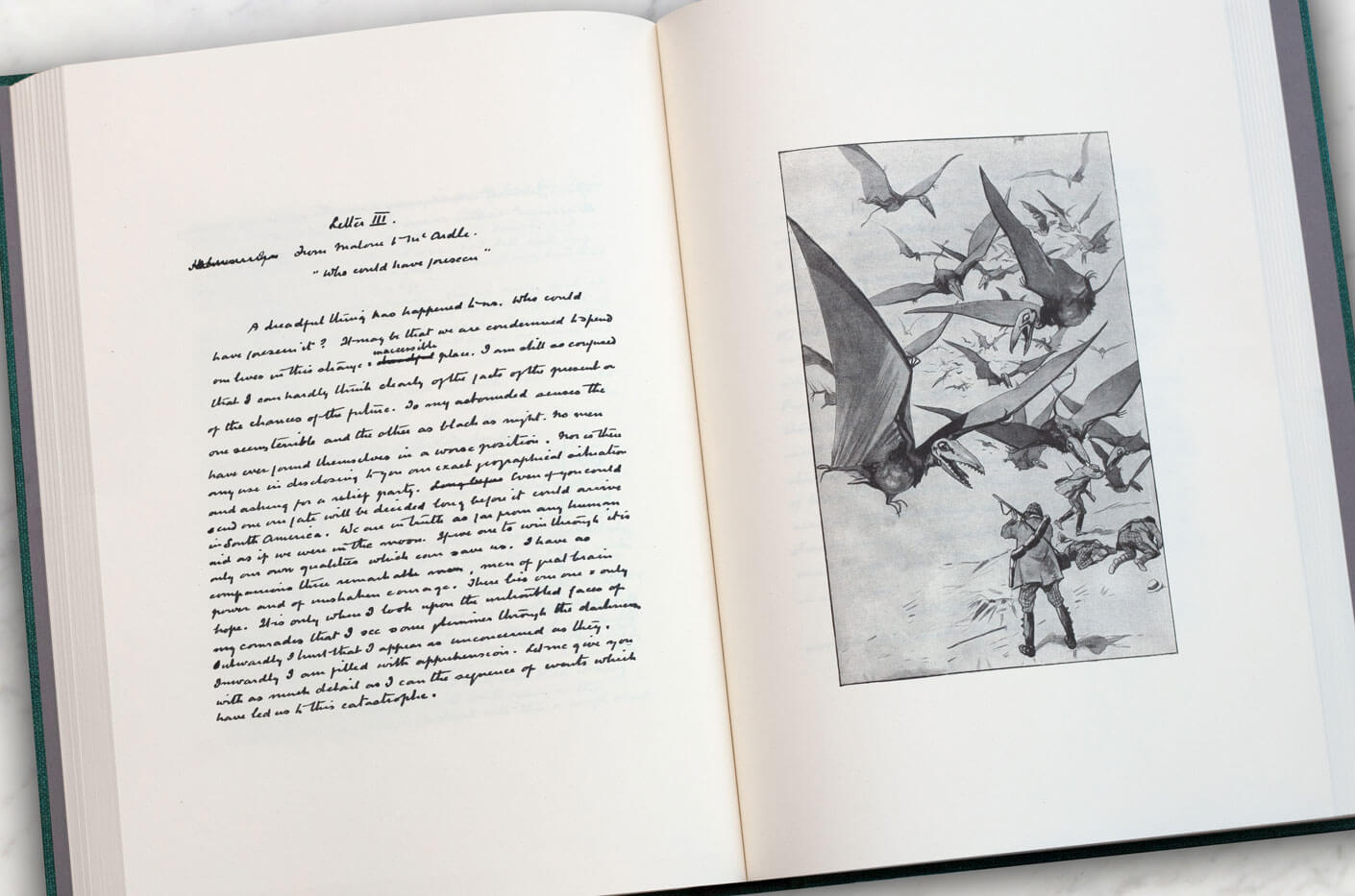 The manuscript of The Lost World