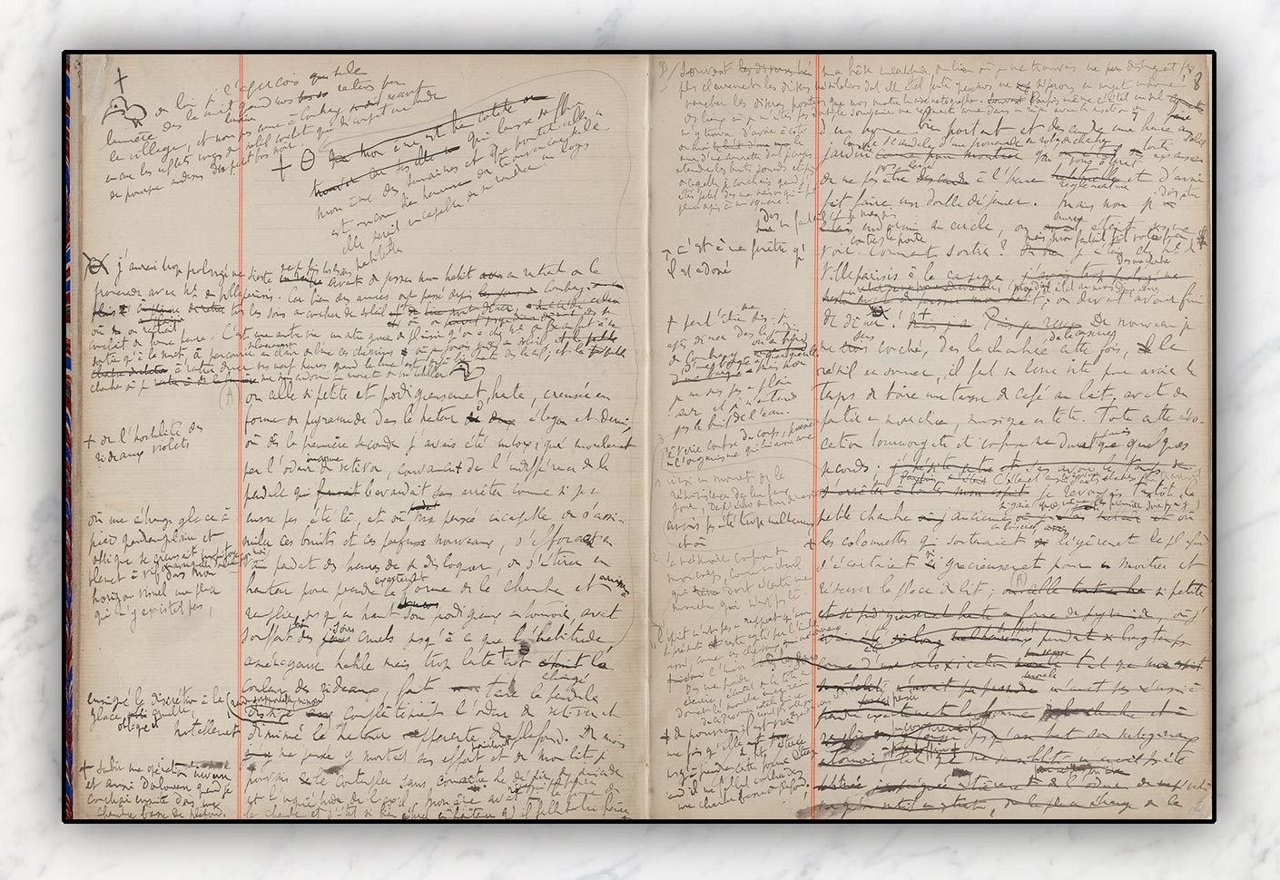 proust's notebooks - the manuscripts of the madeleine