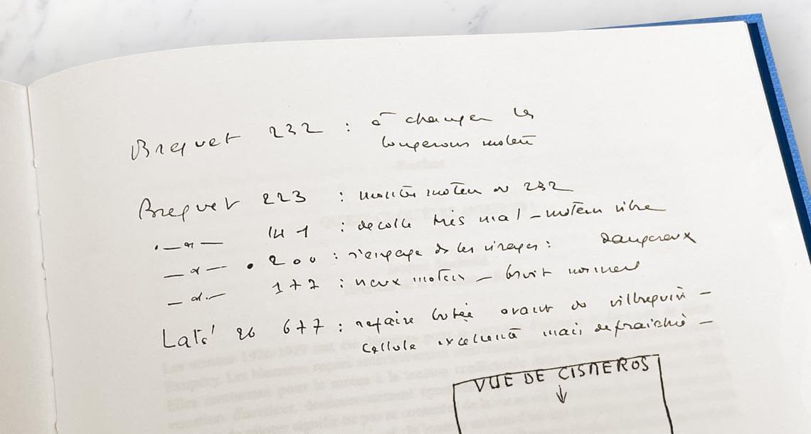 Ecriture manuscrite d'Antoine de Saint Exupéry