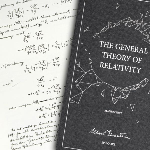 La Théorie générale de la relativité, le manuscrit d'Albert Einstein