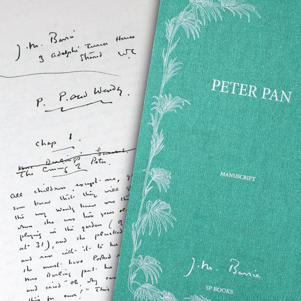 Peter Pan, le manuscrit de James Barrie