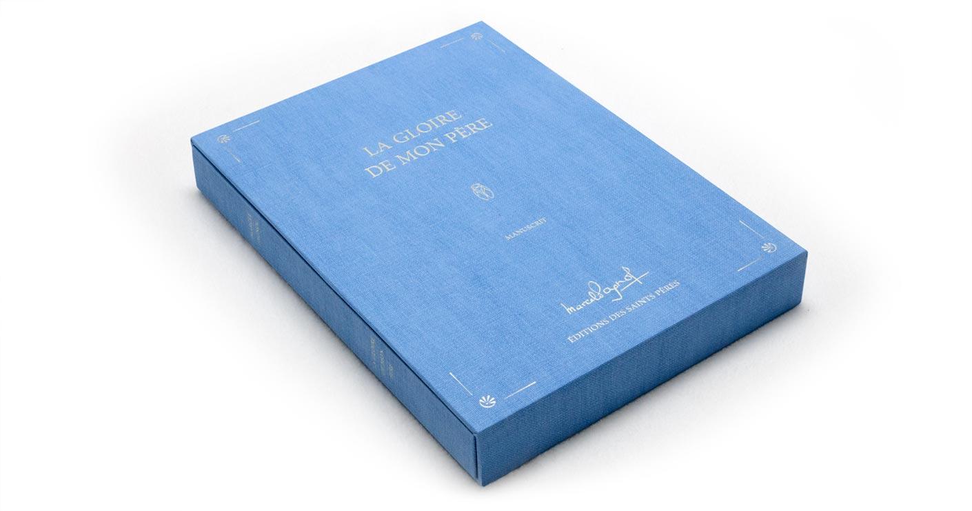Coffret à plat du manuscrit de Marcel Pagnol