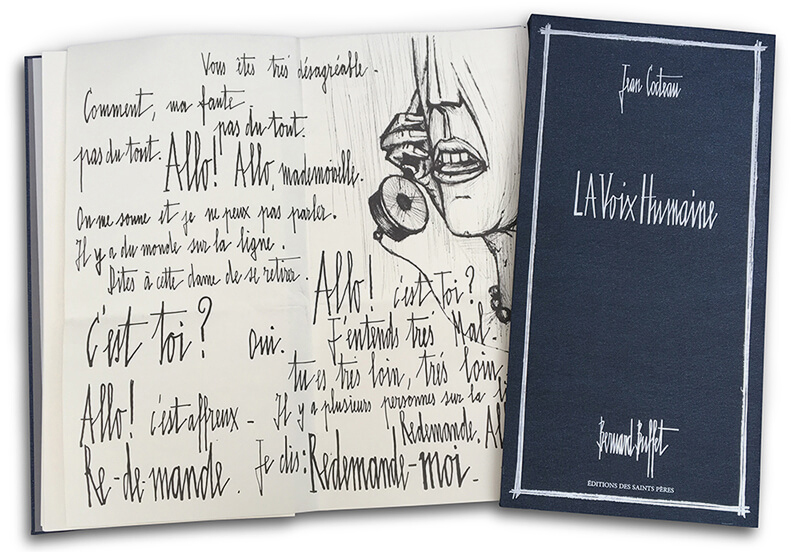 Livre ouvert de La voix humaine de Jean Cocteau