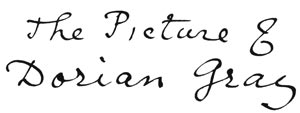 Le Portrait de Dorian Gray - titre manuscrit