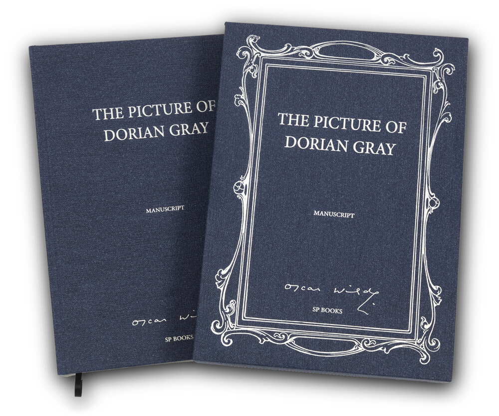 couverture du livre du manuscrit du Portrait de Dorian Gray