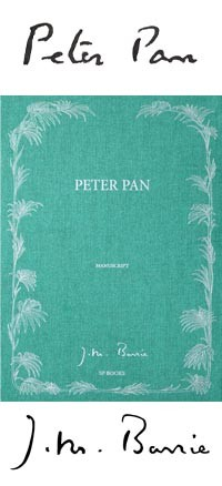 Peter Pan Livre Manuscrit