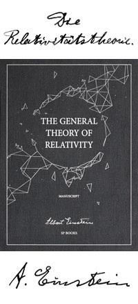 The General Theory of Relativity Manuskript