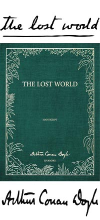 The Lost World Livre Manuscrit
