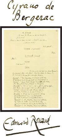 Cyrano de Bergerac Tableau Manuscrit
