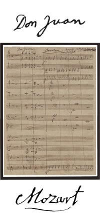 Don Giovanni Tableau Manuscrit