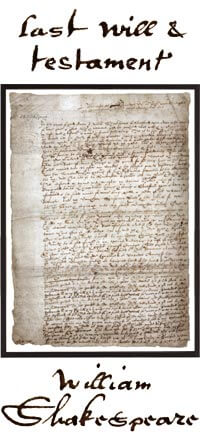 Last Will and Testament Skakespeare