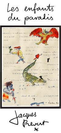 Les Enfants du paradis Tableau Manuscrit