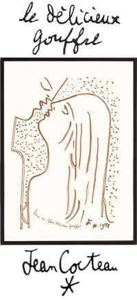 Jean Cocteau Drawings - The most delicious abyss