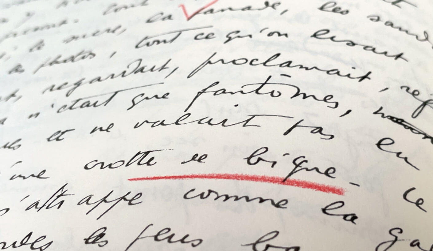 louis ferdinand celine ecriture manuscrite
