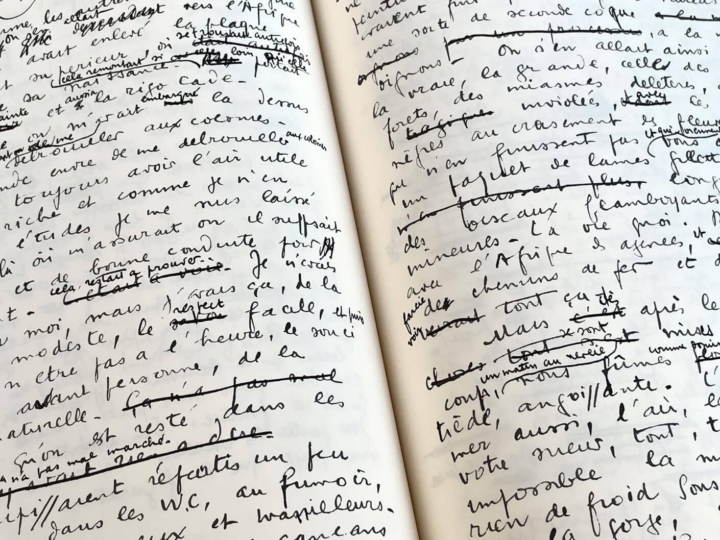 voyage au bout de la nuit manuscrit