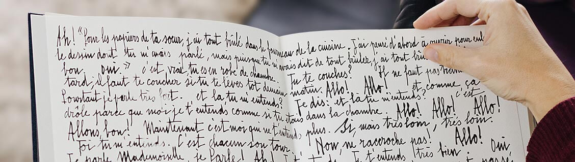 La Voix humaine, le manuscrit de Jean Cocteau