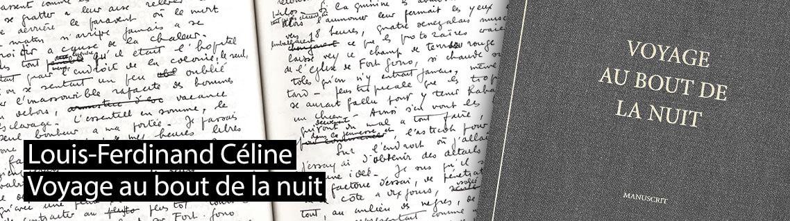 Voyage au bout de la nuit, le manuscrit de Céline